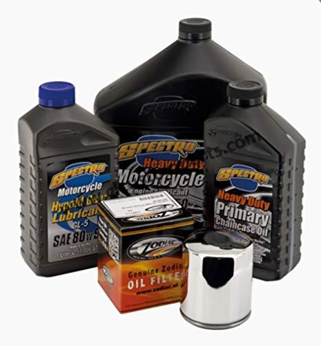 Ölwechsel-Set Motoröl 20 W-50 + Primaria + Getriebe + Ölfilter Schwarz oder Chrom x Harley Dyna Softail Touring V-Rod ab 1999 bis 2017 Standard verchromt