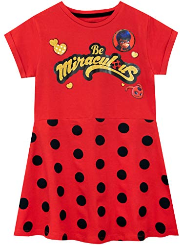 Miraculous Vestido para niñas Ladybug Rojo 7-8 Años