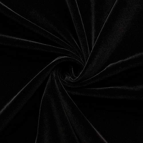 (16,99€/m) Juwel - Baumwollsamt - Baumwolle - Samt - Bekleidung - Heimtex - Deko - Meterware - Stoff (schwarz)