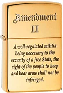 2nd Amendment The Right to Bear Arms American Pride Patriotic Zippo Lighter