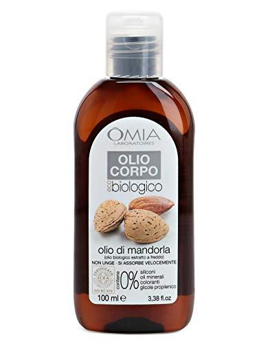 Omia Olio Corpo Eco Bio Con Olio di Mandorla, Olio Idratante da Agricoltura Biologica Certificata, Ottima per Pelli Secche e Stressate, che perdono Tonicità, Dermatologicamente Testato, 100 ml
