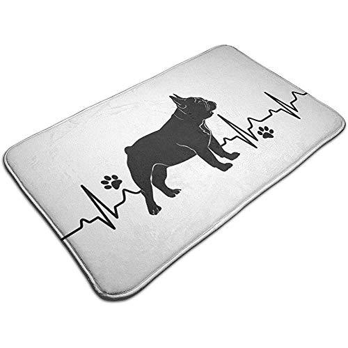Liumt Heartbeat Bulldog deurmat decoratieve antislip badmat 40cm * 60cm