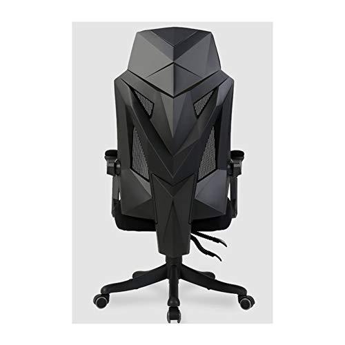 GLMAS draaibare bureaustoel, computerstoel, bureaustoel, gamestoel, draaibare lederen bureaustoel, ergonomische ligstoel, met gevoerde voetsteun en Lumbar-kussen, in hoogte verstelbaar