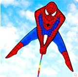 XiaoOu Cometa para niños Avatar Cometa Spiderman Cometa Delta Delta Cometa Muy Popular con línea de Mango