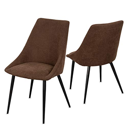 Staboos Stühle 8er Set CH80 - Hochwertiger Polsterstuhl bis zu 150 kg belastbar - Strapazierbarer Stoff Sessel - Premium Dining Chair - leicht montierbare Esszimmerstühle (Chocolate)