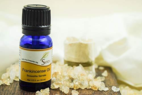 SVATV Incienso/Frankincense Aceite Esencial de Grado Terapéutico Aceites de Aromaterapia Aceite de Fragancia para Difusor Yoga Masaje y Cuidado Personal DIY 10ml