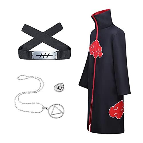 Naruto - Collar con tres anillos Akatsuki para disfraz, diseño de Tangjin