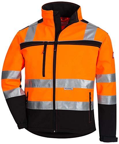 Nitras Motion Tex Viz 7170 Softshell-Warnschutzjacke - EN 20471 - Orange - L