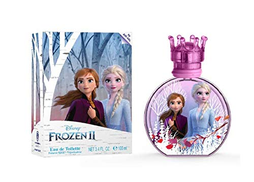 Frozen, Disney, Elsa, and Anna, Perfume, for Girls, 3.4oz, 100ml, with Charm, Made in Spain, by Air Val International