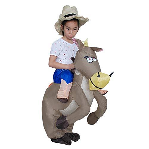 LOVEPET Trajes Inflables Adulto Niños Pony Partido Fiesta De Halloween Traje Inflable Cowboy Knight Ropa Inflable Disfraz Disfraz