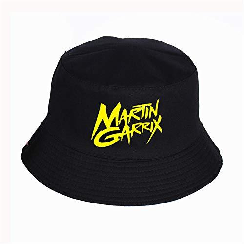 VGFTP® Sombrero de impresión para Mujer Sombrero de Cubo de Panamá para Hombre Diseño de Logotipo de Martin Garrix Sombrero de Pescador de Pesca de Visera Plana