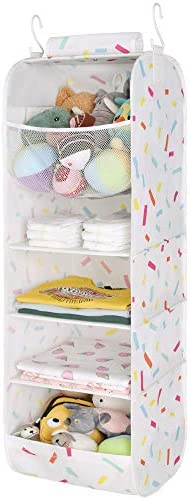 StorageWorks 5 Shelf Jumbo Hanging Closet Organizer Nursery Hanging Organizer for Children s product image