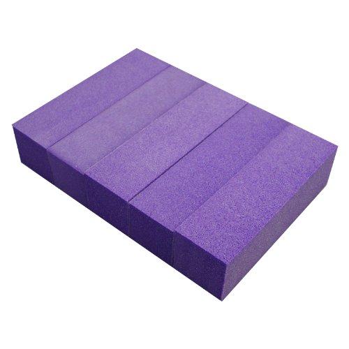 ms1024ac-nb24 Buffer Bloc Polissoir Violet, grain 180, Lot de 5 Sable Papier Limes Sable blocs papier pour faux ongles ongles naturels Renforcement Soin manucure et pédicure pieds