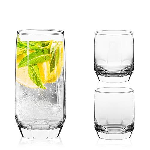 LAV 18 vasos para bebidas, 3 tamaños diferentes, juego de vasos de...