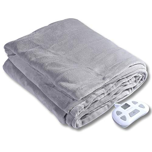 Warm Storm Electric Heated Blankets Flannel Twin Size 84 x 62 Inch Fast Heating Throw Blanket,10 Heat Levels,Auto-Off Machine Washable