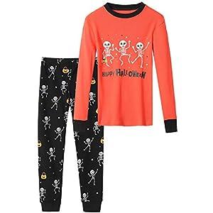 DAUGHTER QUEEN 18 Months-12 Years Boys & Girls Halloween Pajamas Toddler Kids 100% Cotton Sleepwear
