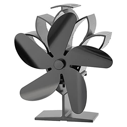 Ofenventilator 5 Flügel Wärmebetriebener Ofenventilator Rostfrei Verschleißfest Leiser Betrieb-Umweltfreundliche Zirkulation-Effiziente Wärmeverteilung,für Holzöfen Gasöfen Pelletöfen
