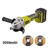 Meuleuses D'angle 20V, Meuleuse angulaire sans fil 115mm 3.0Ah Batterie, avec...
