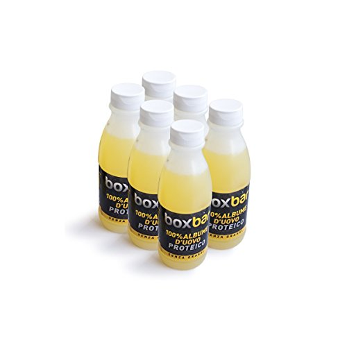 BoxBar Albume d'Uovo da Allevamento all'Aperto, Si Conserva a Temperatura Ambiente - Confezione da 6 x 485 ml
