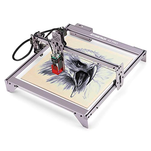 Laser Engraver Cutting Machine ATOMSTACK A5 pro 40W Laser Engraver for Wood and Metal, Logo Engraver for Home, 410x400mm Engraving Area, Cut 1/2' of The Wood and Acrylic