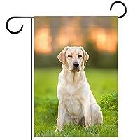 ホームガーデンフラッグ両面春夏庭屋外装飾 28x40INCH,ラブラドール子犬