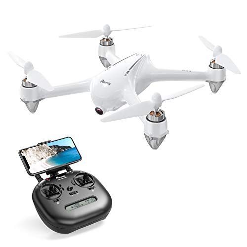 Potensic D80 RC Drone with Camera for Adults , 2k Live Video Drone with GPS, Strong Brushless Motors, GPS Auto Return Home,Follow Me, 25 mph High Speed 5.0GHz Wi-Fi Gyro Quadcopter White