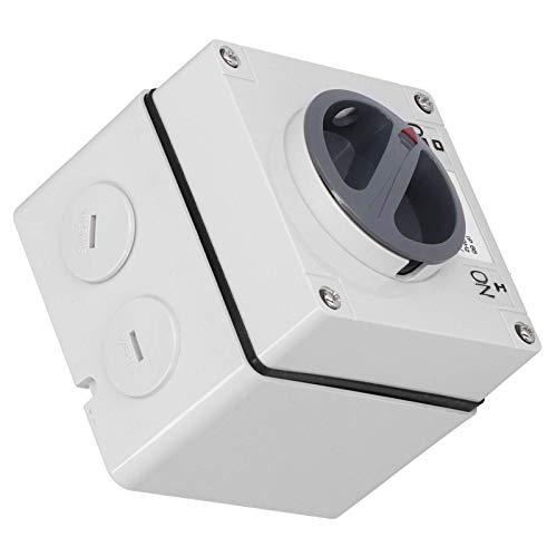 Indicadores de botones confiables, Enchufe de interruptor impermeable para exteriores, Interruptor impermeable a prueba de polvo, para oficina en casa (3P10A)
