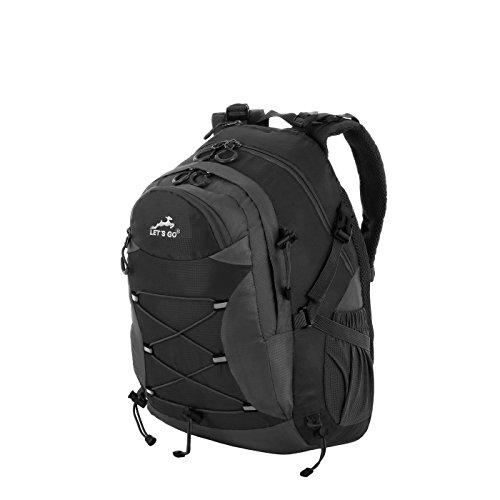 Let's Go Rucksack Herren und Damen/ Freizeitrucksack Jungen und Mädchen mit Laptopfach, Trekking, Daypack, Outdoor, sportlich robuster Wanderrucksack (verschieden Farben)
