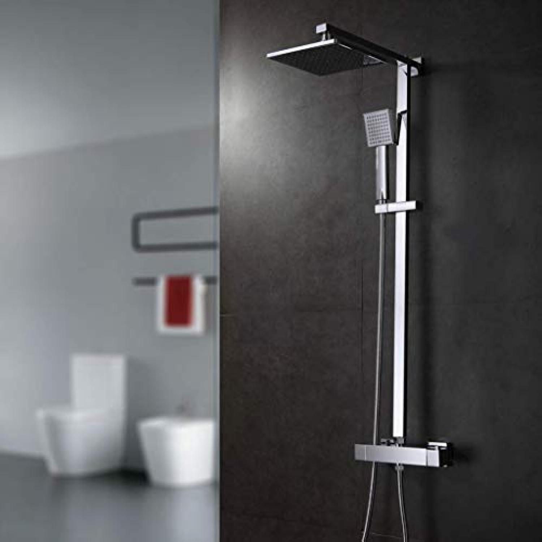 LHW Shower Set chset, Handbrause, Multifunktionsdusche, thermostatische WandGrünckung, Vollkupferwassersparende Dusche, Lufteinspritzungsverstrker