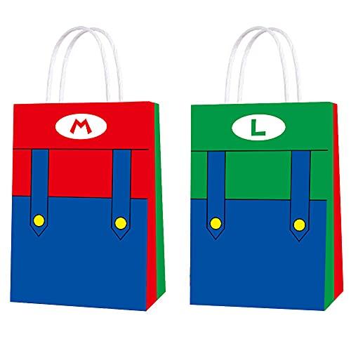 15 bolsas para fiestas de Super Mario Brothers bolsas para regalos para niños adultos fiesta de cumpleaños artículos para fiestas temáticas de Super Mario Bros Bomboniere