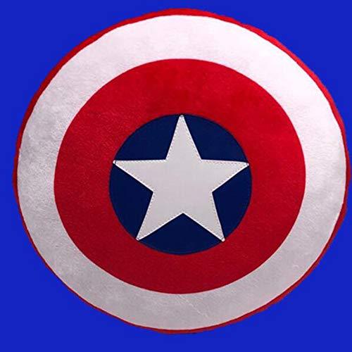Towel Rings Captain America Shield Pillow Peluche Doll America Team Avengers Cuscino Sleeping Round Shield Avengers Captain America Logo Shield Decorazione Cuscino, Regalo di Famiglia