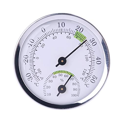 Siwetg aan de muur bevestigde temperatuur-vochtigheidsmeter thermometer U hygrometer voor saunaruimhuishouden
