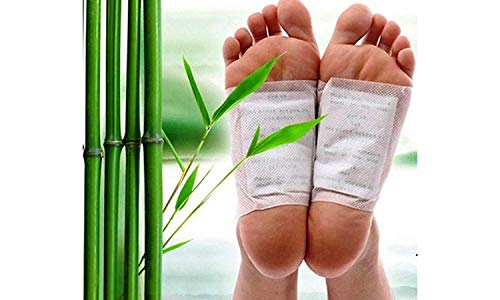 Satisfyshop Organic Herbal Kinoki Cleansing Natural Unwanted Toxins Remover Detox Foot Patches Adhesive Pad Kit for Men and Women