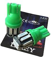 LIMEY T10 LED ポジションランプ グリーン 緑 爆光 10連 5W級 ポジション灯 ナンバー灯 ルームランプ 車 バイク ledバルブ 2個入