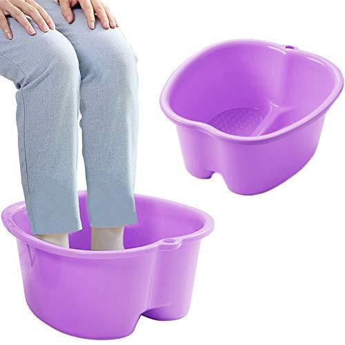 Gran bañera de spa para pies de plástico grueso para remojar pedicura (Lila 2)