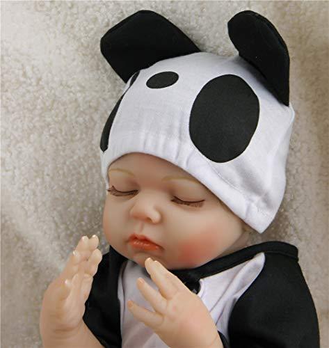 ZIYIUI Realistic Sleeping Reborn Dolls Boy Babies Lifelike Toddler Silicone Vinyl Reborn Baby Panda Outfit 20 Inch