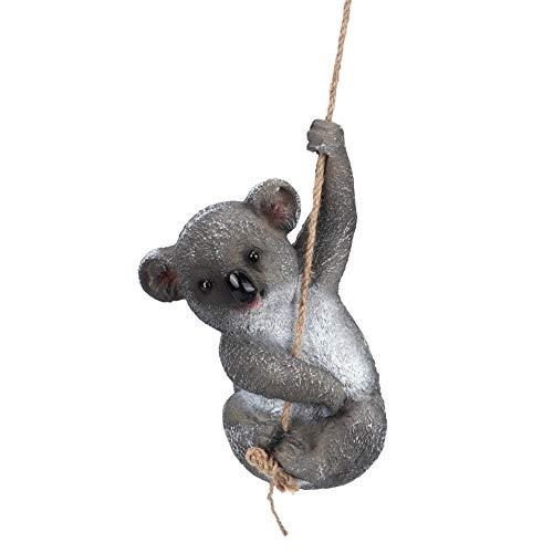 【 】 Decoración de Resina de Koala, Encantadora simulación Columpio Koala Estatua Colgante Figuras al Aire Libre para Patio jardín decoración de jardín