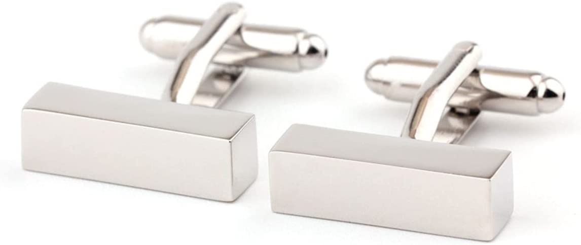 BO LAI DE Men's Cufflinks Rectangular Three-Dimensional Metal Cufflinks Shirt Cufflinks Suitable for Business Activities, Conferences and Dances, with Gift Box