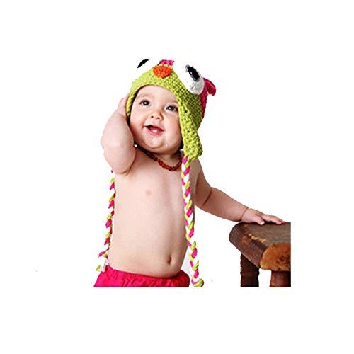 KYEEY Accessoires de Costume de baptême pour Nouveau-né Bébé Enfant Photo Casquette Style bébé Chapeau de Photographie Multicolore en Option Tenues de Photographie de bébé (Color : Green)