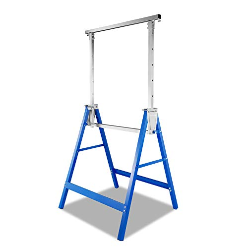 Hoplugge 4 soportes de andamio, 7 alturas, altura regulable de 81 a 130 cm, telescópicos, portátiles, multifunción, capacidad de carga de 400 kg