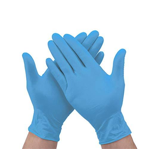 100st Wegwerphandschoenen Veiligheid Nitril Handschoenen voor Huishoudelijke Voedsel Reiniging statische Antislip Plastic Handschoenen Keuken Accessoires, BU, L