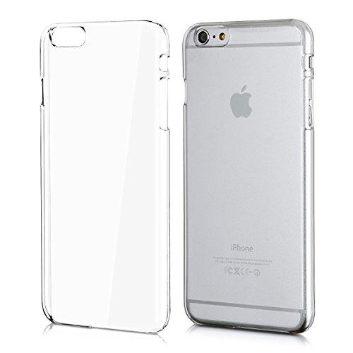 kwmobile Cover Compatibile con Apple iPhone 6 Plus / 6S Plus - Custodia Rigida Trasparente per Cellulare - Back Cover Cristallo in plastica - Trasparente