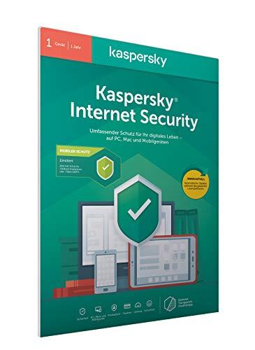Kaspersky Internet Security 2020 Standard | Limitiert: + Android-Schutz | 1 Gerät | 1 Jahr | Windows/Mac/Android | Aktivierungscode in frustfreier Verpackung