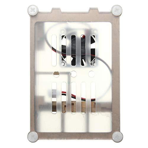 ZXJUAN Draadloze Controle Kleurrijke Acryl Laag Case Box Met Koeling Ventilator Kit Voor Raspberry Pi 2 / B+