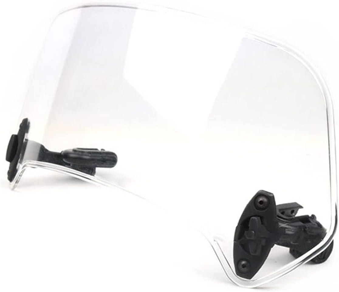 エンジン Scooter De Motocicleta Universal Clip Ajustable En La Extensión del Parabrisas Spoiler Deflector De Viento Ajustable Carenado Protector Delantero (Color : Large Transparent)