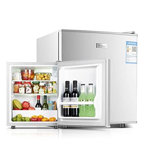 QINGZHUO Mini Frigo,(118 L,60 L),Funzionamento Silenzioso,Argento,Congelatore Frigorifero A 2 Porte da Libero Posizionamento,Ideale per Cucina,Camera da Letto O Ufficio.