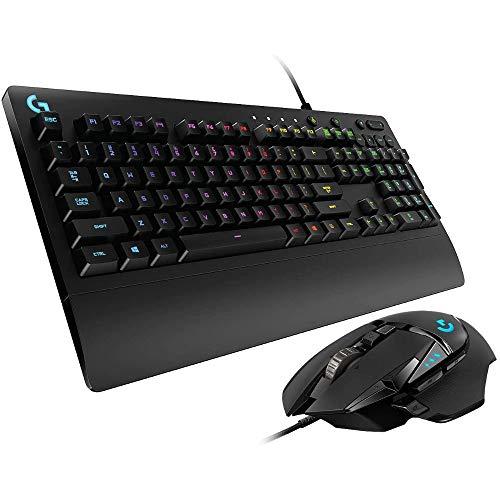 Logitech G502 Hero High-Performance Gaming Maus, Hero 16000 DPI Optischer Sensor + G213 Prodigy Gaming-Tastatur, RGB-Beleuchtung