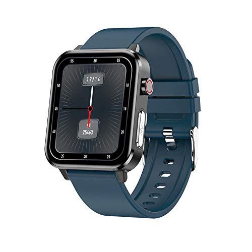 E86 Smartwatch Pulsera Sport Fitness Watch, con temperatura corporal ECG Presión arterial Oxígeno Medición de frecuencia cardíaca, Monitoreo de la salud del sueño, Podómetro Deportes