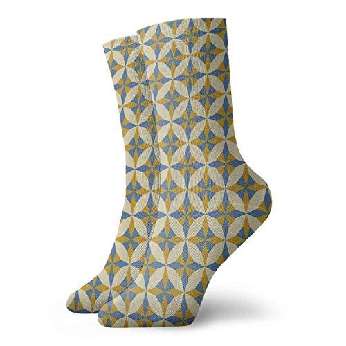 Unisex Geometric Origami Pattern Classic Crew Calcetines Transpirable Fantasy Tobillo Correr Senderismo Calcetines-Weekend Sport Calcetines deportivos Calcetines cortos 30 cm