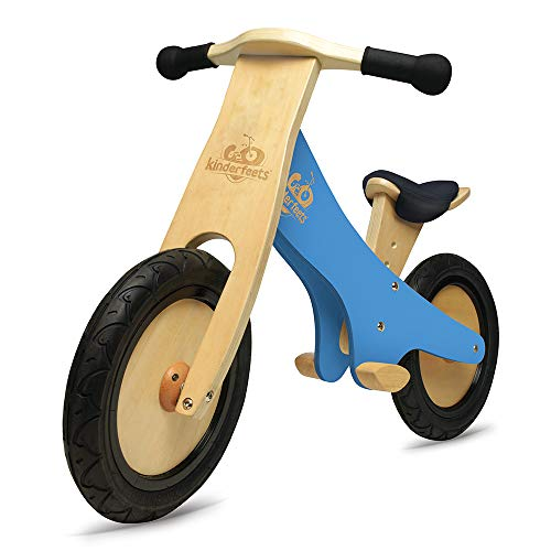Kinderfeets Classic Chalkboard Wooden Balance Bike, Kids Training No Pedal Balance Bike, Black